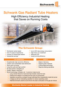 Schwank Gas Radiant Tube Heaters